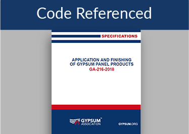 GA-216 Application & Finishing of Gypsum Board